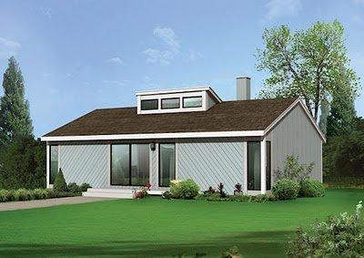 Planos de casas gratis de 4 dormitorios en 109 metros cuadrados
