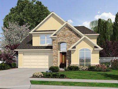 Planos de casas de 2 pisos con 4 dormitorios con fachada for Modelos de techos para casas de dos pisos