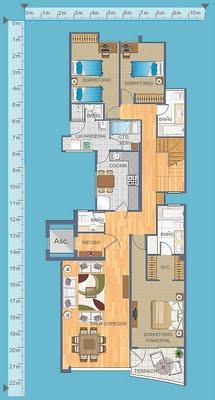 Planos de departamentos duplex gratis con 3 dormitorios