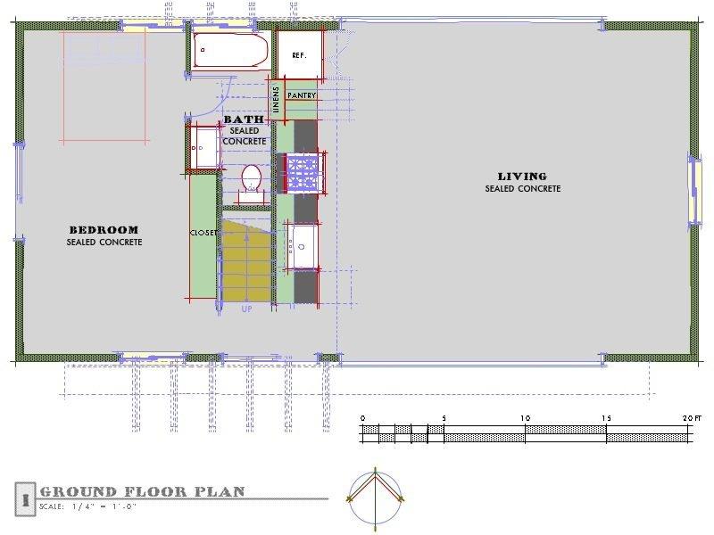 Planos de casas de campo eficiente de 1 dormitorio en 78 for Garage con piani loft gratuito