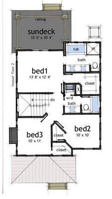 Planos de casas gratis de 2 pisos 3 habitaciones en 150 for Medios banos debajo de escaleras