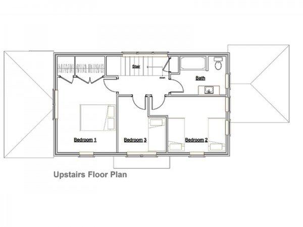 Planos de Casas gratis de 2 pisos, 3 dormitorios en 127 metros ...