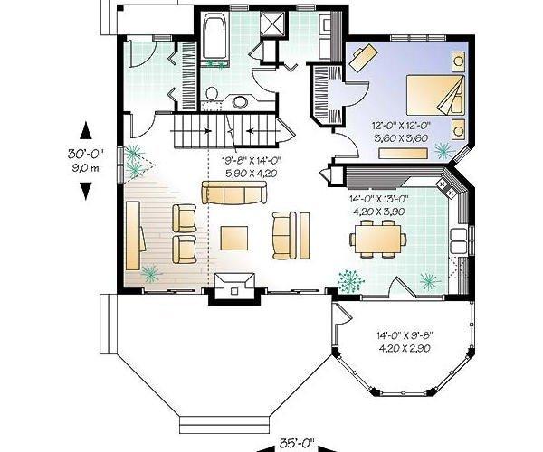 Plano de casas gratis de dos pisos y tres habitaciones - Planos de casas de planta baja ...