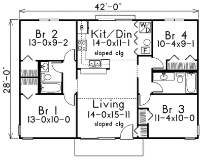 1400 Sq Ft House Plans furthermore casayburro moreover Arch Rafter House Plans further Tips To Find House Blueprints further Two Story Houses. on 1 bedroom home plans open floor plan