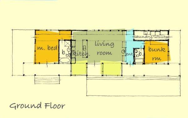 Fotos de planos de casas de madera con 2 dormitorios en 167 metros cuadrado