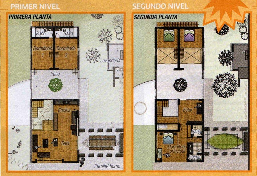 Planos de casas tradicionales de 3 habitaciones fachadas for Planos de casas rusticas gratis