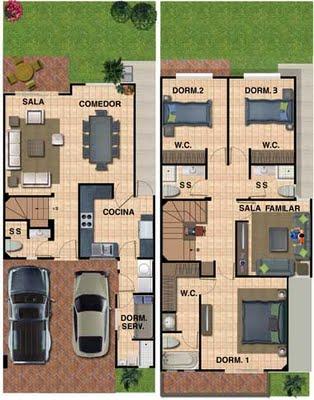 Planos de casa de 180 metros cuadrados con 133 m2 de for Planos de casas 90m2