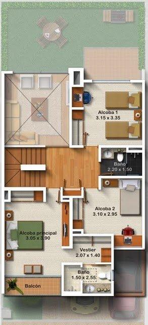 Planos de casas gratis de tres pisos en m2 for Planos de casas gratis