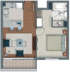 Planos de departamentos de un solo dormitorio planos for Planos de departamentos de 40m2