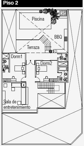 Planos de casas gratis ubicados en una esquina : Planos de Casas