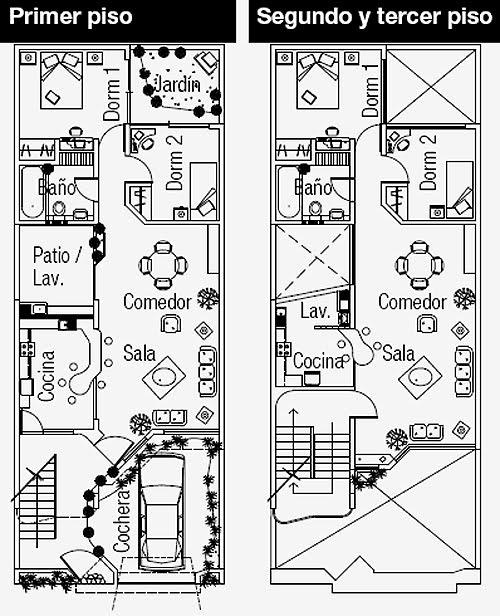 Planos de departamentos gratis con un area de 126 m2