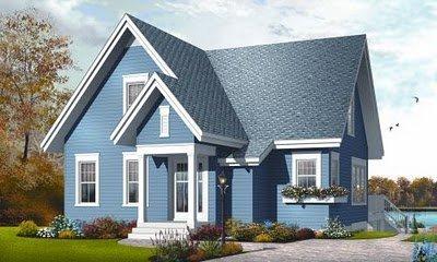 Plano de casa gratis de 2 pisos, 3 habitaciones en 147 metros cuadrados