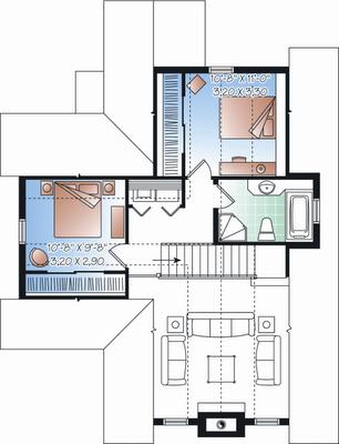 Plano de casa gratis de 2 pisos 3 habitaciones en 147 for Habitaciones 3d gratis