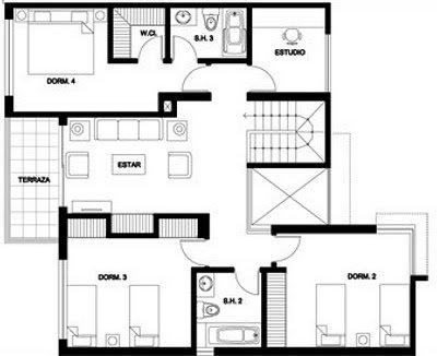 planos de casas de dos pisos 300m2