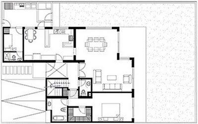Planos para una casa planos de casas plano de casa de for Programa para hacer planos gratis en espanol