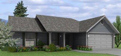 Plano de casa de 2 dormitorios y 102 metros cuadrados