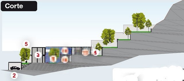 Planos de casas construidas en laderas