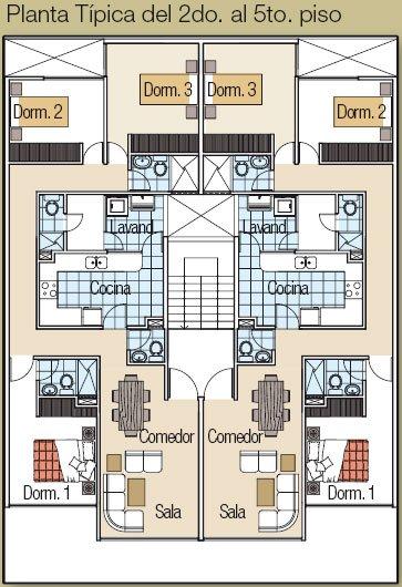 Planos de departamentos con los primeros pisos para uso for Edificio de departamentos planos