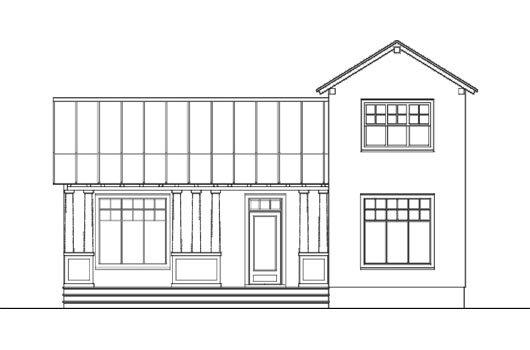 Plano de Casa de dos pisos, tres dormitorios y 156 metros cuadrados