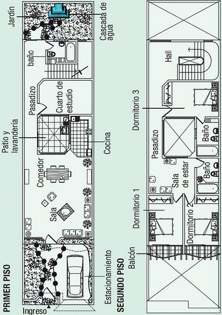 planos de casas 5×20