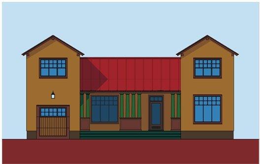 Plano de Casa de 4 dormitorios y 195 metros cuadrados