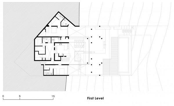 ... casa de playa en desnivel: Casa Q en el Peru00fa : Planos de casas gratis