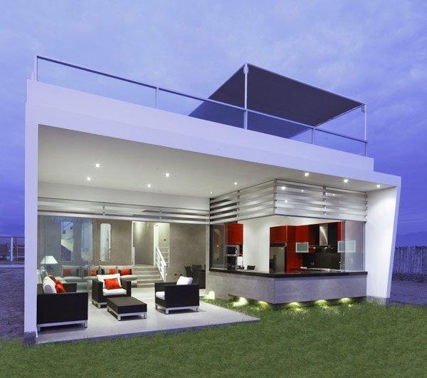 Plano de una casa de playa especialmente diseñado para el relax: Casa Grafitti en el Perú
