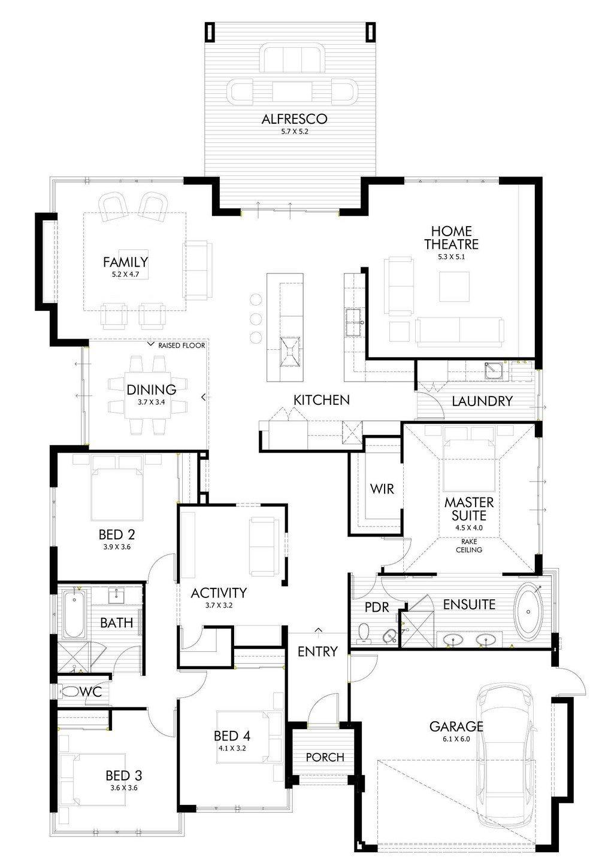 Planos de una casa moderna de un piso con estilo japones for Planos de casas de un piso gratis