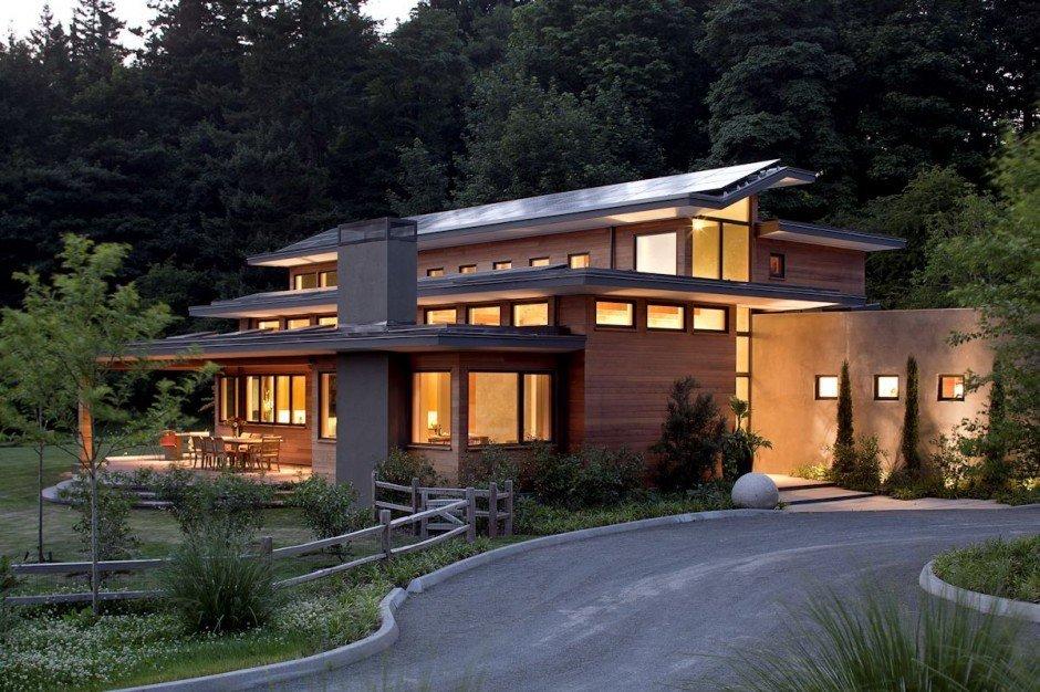 Planos de Casas, Residencia Skyline en Oregon, EE.UU