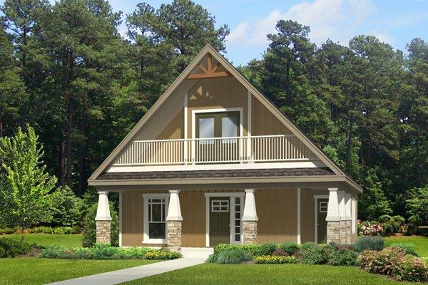 Plano de una casa pequeña tipo cabaña