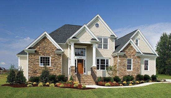 Planos de casas tradicionales de 3 habitaciones, fachadas de piedra y un espacio adicional flexible