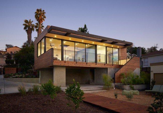 Planos de una adición moderna que trae la luz y vistas interiores